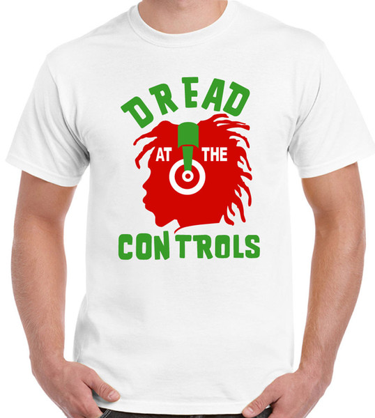 9aa4f215 Dread At The Controls - Mens T-Shirt - Mikey The Clash Reggae Record Label