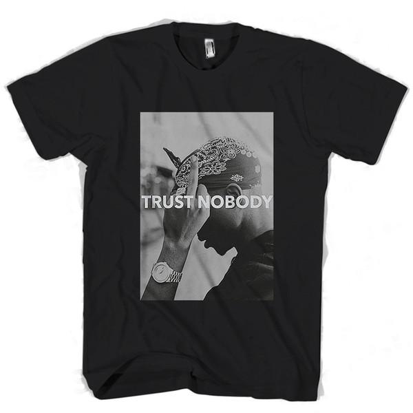 Tupac 2Pac Shakur Trust Nobody Funny Man / Woman T-Shirt Envío libre divertido Unisex Casual Tshirt