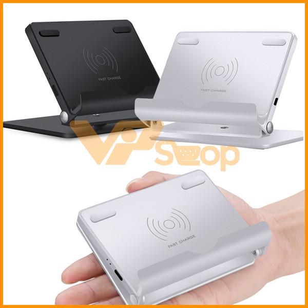 Universal FL8 QI Sem Fio Carregamento Pad Stand 360 Base Rotativa Smartphone Carregador Rápido Dock para iPhone Samsung Telefones Móveis