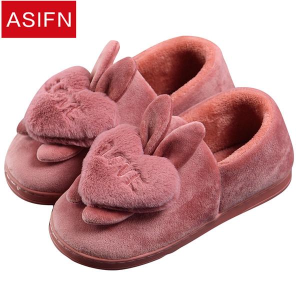 consegna gratuita risparmia fino all'80% le migliori marche Acquista ASIFN Pantofole Donna Inverno Peluche Fluffy Carino Love ...