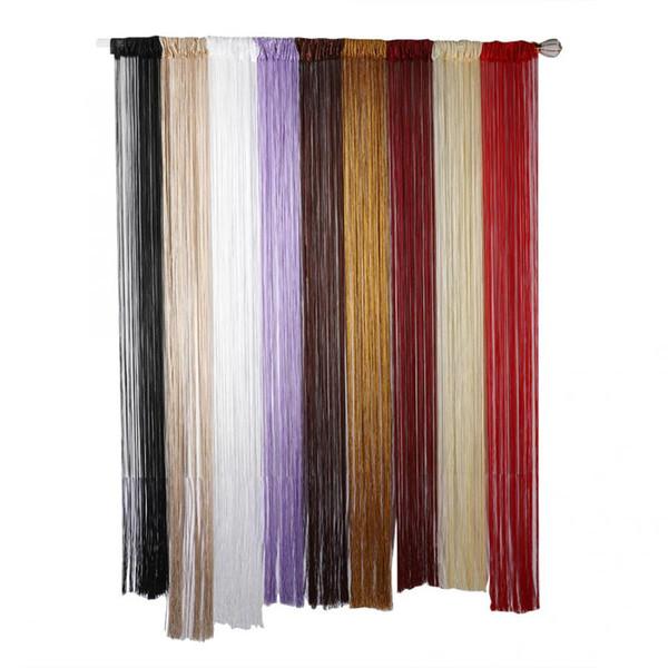 100x200cm Elegant Partition Curtain Yarn Curtain Tassel Chain Door Drape for Bedroom Coffee Shop Curtains Hot