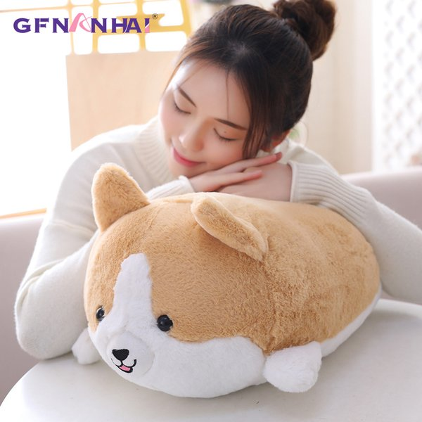 1pc 35/50CM Cute Animal Corgi Dog Plush Toy kawaii Stuffed Lovely Dog Pillow Dolls for Children Kids Birthday Valentine Gifts