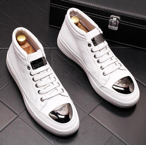 Luxury Fashion British Men's Flats Men Dress Derby Masculino Groom Business Wedding Oxford boots Men Chunky Sneakers W128