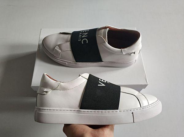 Großhandel Party de Mode Lässig Italien Chaussures Männer Designer Echtleder ChaussuresMit Schnürung Frauen Luxus Paris Gurt Gummiband Leder Tennis ul1FK3JcT