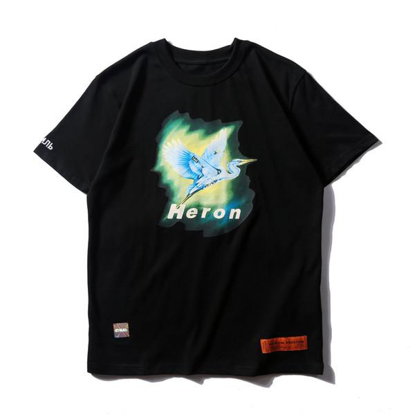 Yeni Heron Preston Erkek Tişörtleri Yüksek Kalite Baskılı Kısa Kollu Gömlek Moda Tasarımcısı Yaz Giyim Tops