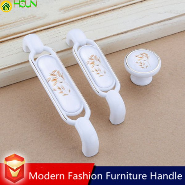 96 128mm Moderna Sinple Fashion Bianco Rose Gold Kitchen Cabinet Cupboard Maniglia Stampa Cassetto Scarpiera Cabinet Knob Pull