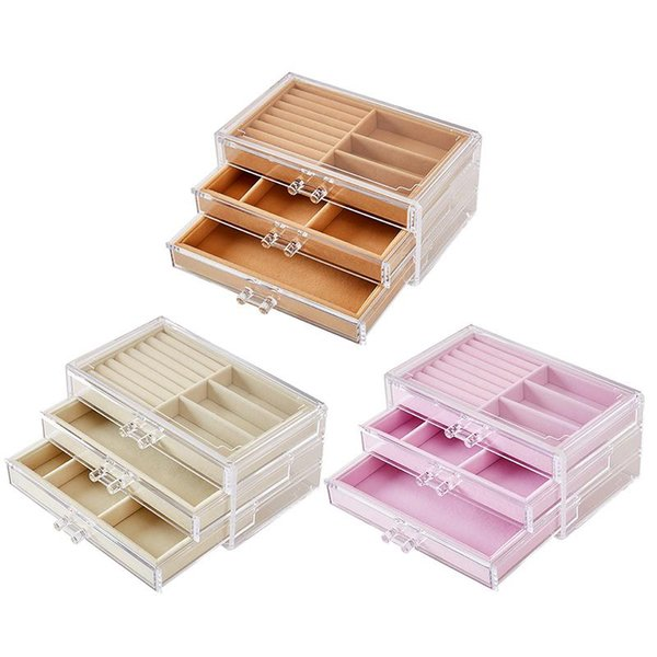 Dust-proof Transparent Acrylic Jewelry Earrings Storage Box Ladies Jewelry Earrings Display Stand Stand