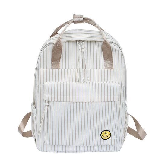 Women's Backpack Campus Fashion Student's Backpack Lattice Soft Girls College Handbag Dual-purpose Shoulder Bag