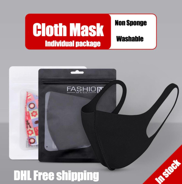 best selling In stock Reusable Washable Cloth Face Mask Individual Package Designer Masks Kids Masks DHL Free shipping