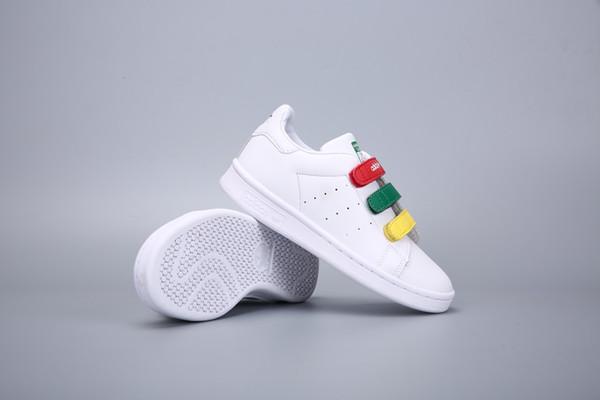 Zapatillas deportivas para niños nuevas Zapatillas deportivas para niños de alta calidad Casual STAN SMITH SNEAKERS BLANCO 24-34