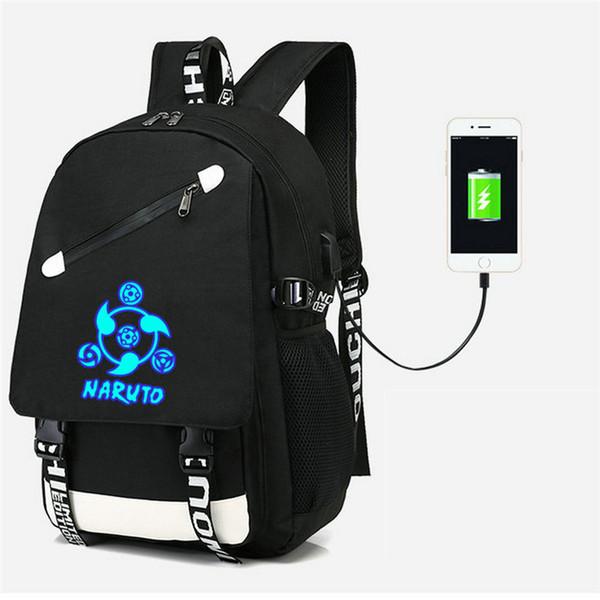 Cartoon Naruto Hokage One Piece Backpack USB bag Travel School Students Bag USB Charging School Casual Laptop Gifts