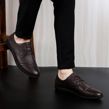 Free shipping low price sales European and American style leather dress fashion men's shoes quality