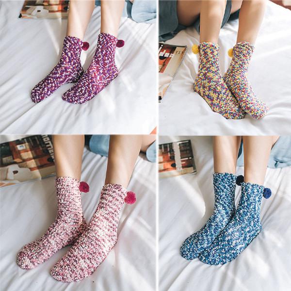 9 Stilleri Sevimli Noel Hediye Çorap Kalınlaşma Mercan Kaşmir Yaratıcı Kek Çorap Kış Kat Sıcak Havlu Çorap Kadın Kızlar Ev G502S F