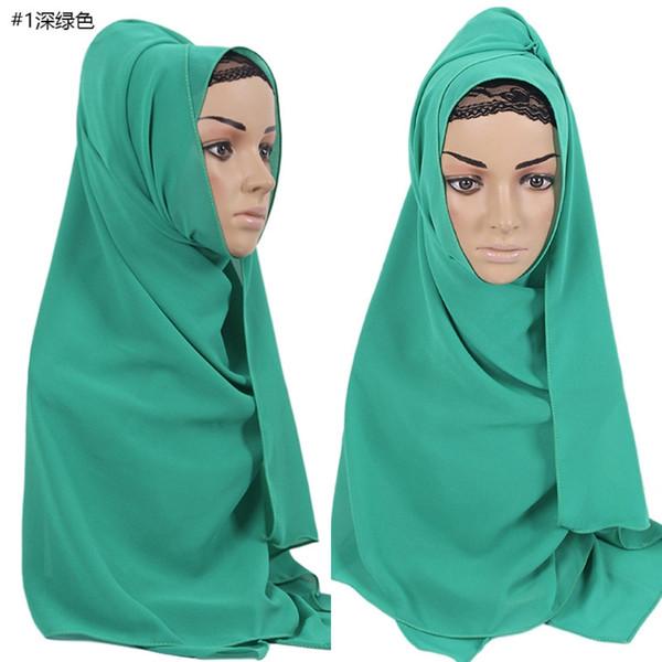 Women Plain Bubble Chiffon Hijab Islamic Muslim Turban Scarf Shawls Solid Color
