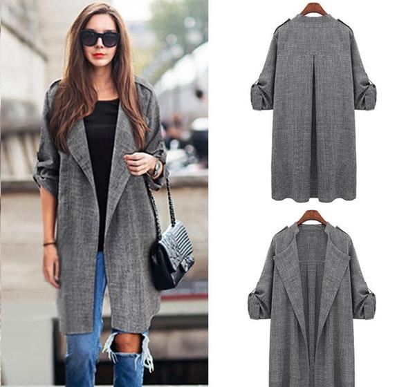 Womens designer windbreaker autumn and winter womens windbreaker long-sleeved to increase quality plus velvet cardigan coat wholesale
