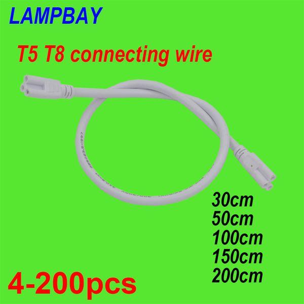 4-200 stücke T5 T8 Verbindungskabel 30 cm 50 cm 100 cm 150 cm 200 cm 3-polige buchse Drahtverbinder für LED Leuchtröhre Integrierte Leuchte