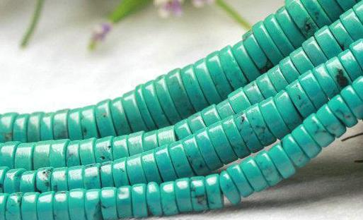 ONE STRAND TURQUOISE SPACER Beads COIN Loose Beads Semi Precious Stone For Jewelry Making Diy