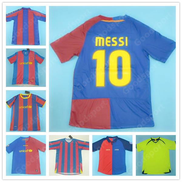 Retro caliente 96 97 98 99 00 05 07 08 09 10 11 Messi del fútbol jerseys XAVI PIQUE camisetas de Henry A RONALDINHO INIESTA ETO'O RONALDO CALIENTE