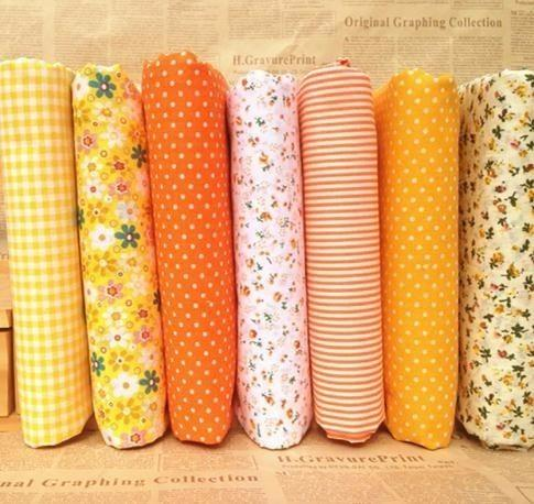 7PCs/set 25x25cm DIY Patchwork Handmade Fabrics For Sewing Cotton Quilting Fabric For Felt