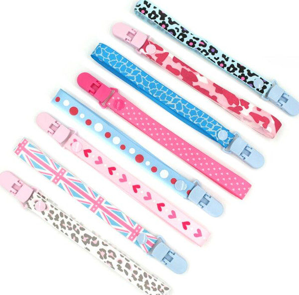 Baby Pacifier Clips Teether Toy Belt Clip Pacifier Chain Clip Holder Lanyard Nursing Soother Nipple Lanyard Strap Ins Holder KKA6684