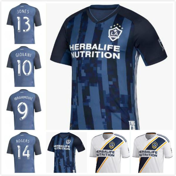 2019 2020 MLS Soccer Los Angeles LA Galaxy Jersey Men FC IBRAHIMOVIC J.DOS SANTOS STERES LLETGET PONTIUS ANTUNA Football Shirt Kits Uniform