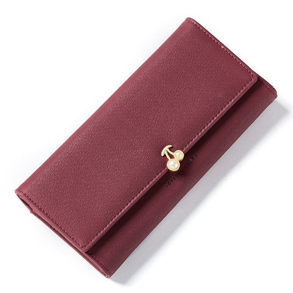 good quality Fashion Fruit Pattern Women Wallets Pearl Element Leather Long Wallet Female Brand Card Holder Ladies Purse Carteira Hot