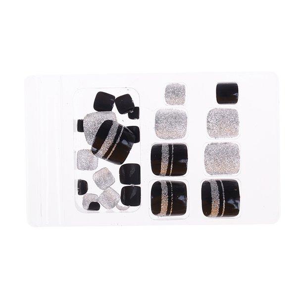 2019 Nuovo arrivo 24pcs punte solide per unghie Acrilico breve pieno false punte di arte del chiodo francese con colla adesivo stile di moda