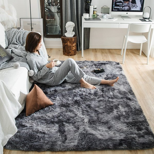 Motley Plush Carpets For Living Room Soft Fluffy Rug Home Decor Shaggy  Carpet Bedroom Sofa Coffee Table Floor Mat Cloakroom Rugs Discount Oriental  ...