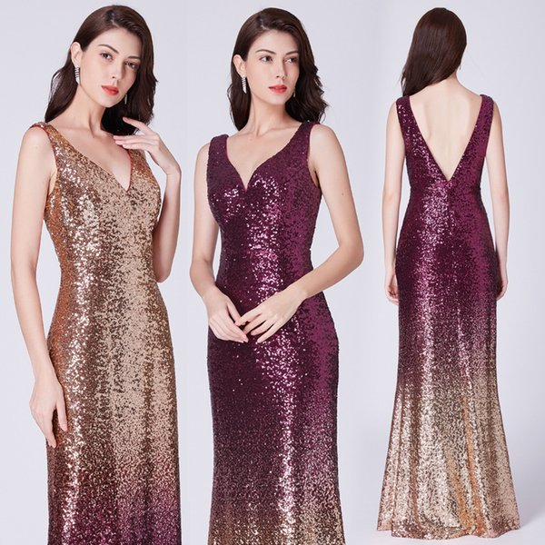 Real Photos Bling Silver Mermaid Prom Dresses Long 2019 Jewel Neck Beads Crystals Backless See Through Floor Length Evening Party Wear