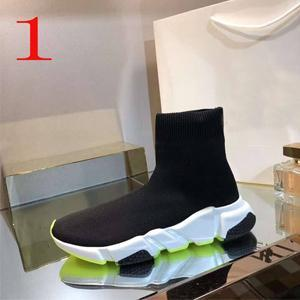 New 2019 Socks shoes High Quality Unisex Casual Shoes Flat Fashion Socks Woman New Slip-on Elastic Cloth Speed Trainer Runner Man Shoes 19S