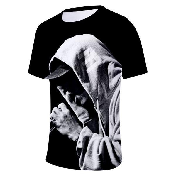 Eminem 3D Printed Designer Tshirts Mens Clothing Summer Fashion O-neck Short Sleeved Tops