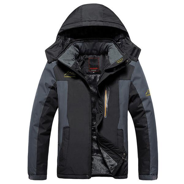 Plus Size 8xl 9xl Winter Fleece Military Down Jacket Coat Men Windproof Waterproof Outwear Down Parkas Windbreaker Army Raincoat T190730