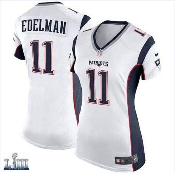 promo code fe889 c1328 2019 Julian Edelman Patriots Jersey Super Bowl LIII Rob Gronkowski Tom  Brady James White Chris Hogan Custom American Football Jerseys Rugby Women  From ...