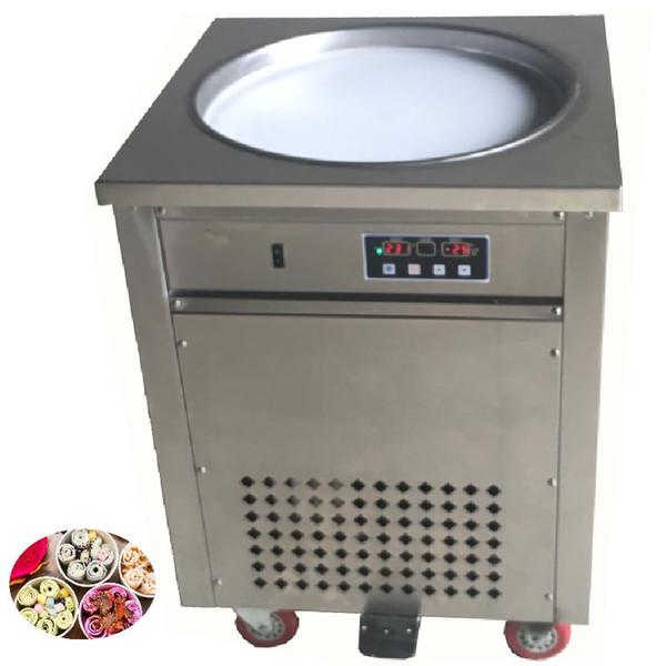 BEIJAMEI 110v 220v Electric Fry Ice Cream Pan Thai Fried Ice Cream Yogurt Roll Maker Machine