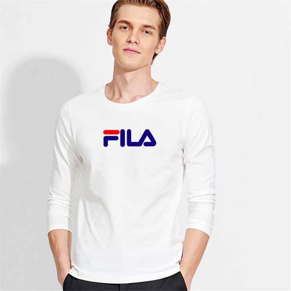 2018 Autumn New 100% Cotton T SHIRT Men,S-3xl Ultra Low Price Long Sleeved Men Tshirt High-Quality O-Neck Pure Color Lovers T-shirt