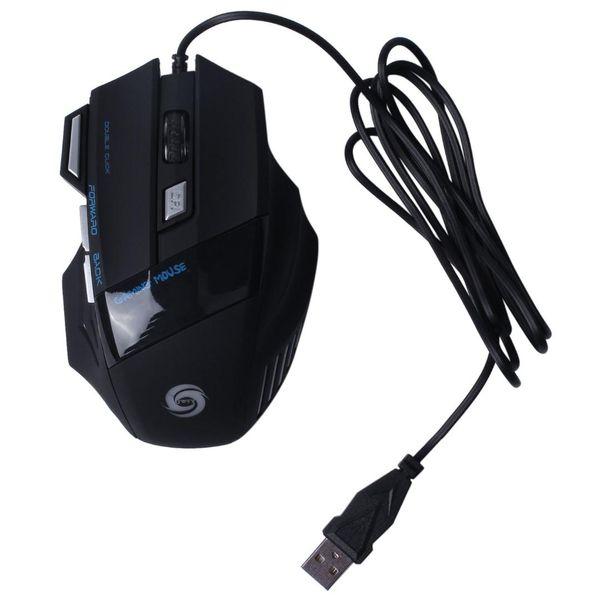 Ratones de ratón con cable USB óptico USB de 7 botones DPI para Pro Gamer E0Xc