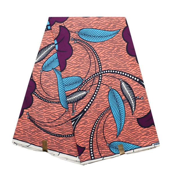 2019 African Dutch Wax African Wax Hollandais High Quality African Fabric Ankara 6Yards Hot Sale Design For Women Dress 001