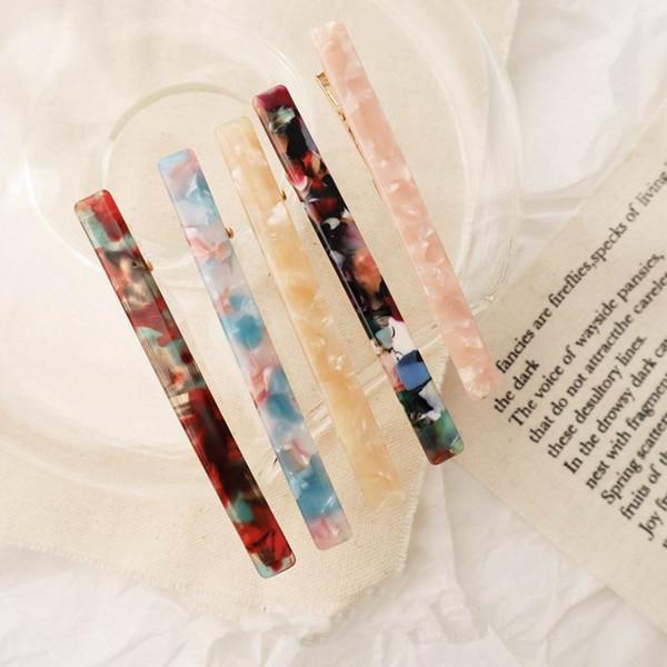 2019 япония новый красочный уксусная кислота акриловая смола длинные заколки для женщин мода прическа с геометрическим рисунком заколки для волос заколки