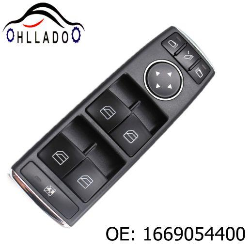 best selling HLLADO New Car Electric Power Window Switch 1669054400 A1669054400 For Benz ML350 ML500 ML63 G500 G550 G55 Auto Parts High Quality