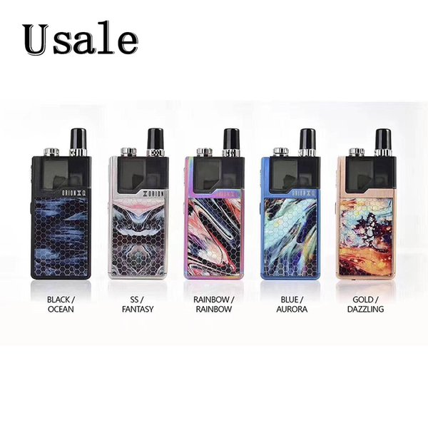 Lost Vape Orion Q Pod Kit New Colors with 950mAh Battery 17W Box Mod 2ml Refillable Cartridge Tank 100% Original