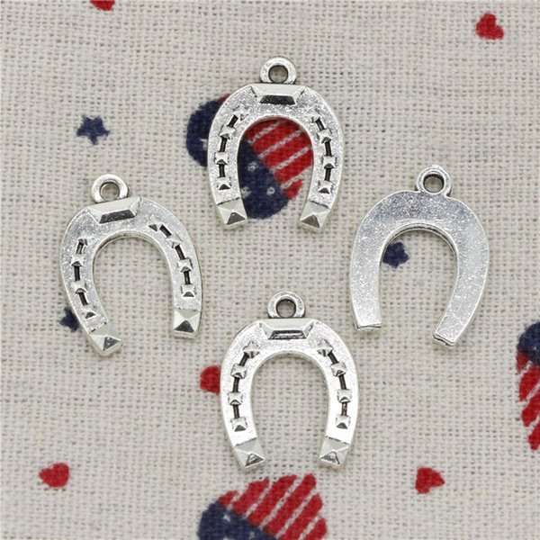 179pcs Charms horseshoe lucky 21*16mm Pendant, Tibetan Silver Pendant,For DIY Necklace & Bracelets Jewelry Accessories
