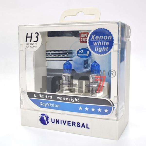 H3 55W Halogenscheinwerfer-Birnen Freie Nebelscheinwerfer, die Lampe 6000K Weiß 12V-Umwandlungssatz-2 Satz fahren