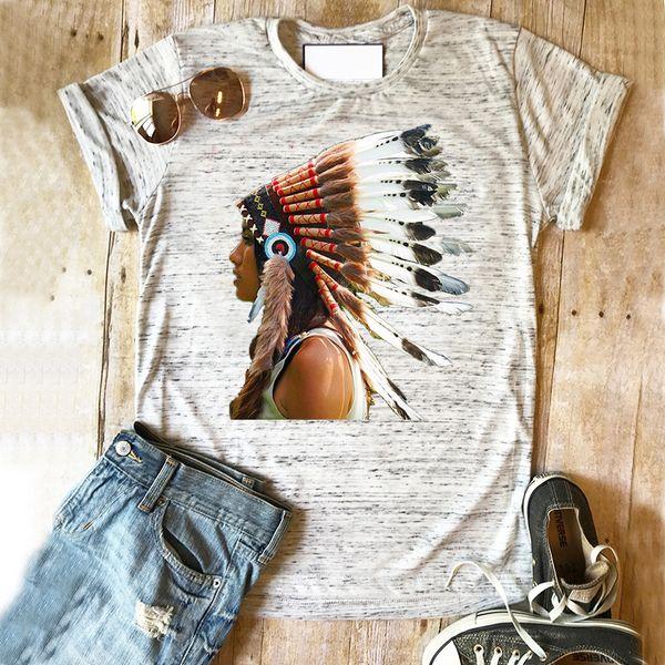 Indian Tshirt Bohemian Casual Woman Short Sleeve T-shirt Tops Korean Clothes Aesthetic Tees Plus Size Top T-shirt Female new