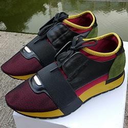 Hombre cómoda Zapatos Casual Mujer barato zapatilla de deporte de la manera mezcló colores Rojo Azul Negro Mesh Designer Shoes tamaño de gota de envío 35-46 10044