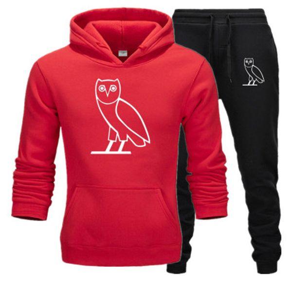 2020 nuovi hoodies uomini a due pezzi giacca + pantaloni della tuta Pantaloni Felpe termici invernali seme maschile chandal homme hombre fare jogging