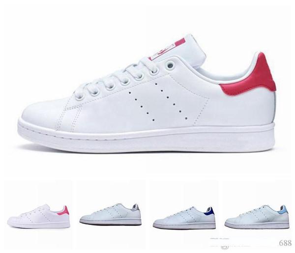 Discount neuf hommes stan smith cuir classique respirant College rouge chaussures de sport femmes de luxe hommes de mode sandales concepteur chaussures
