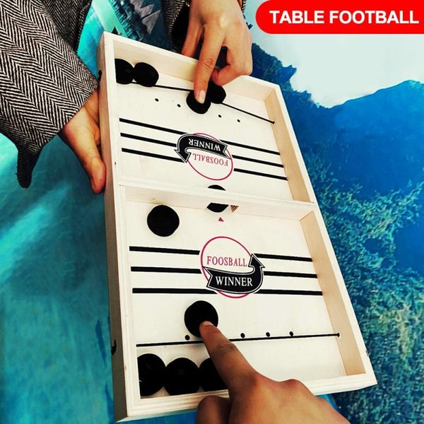 best selling Fast Hockey Sling Puck Game Paced Sling Puck Winner Fun Toys Board-Game Party Game Toys For Adult Child Family Hot In Sale Y200413