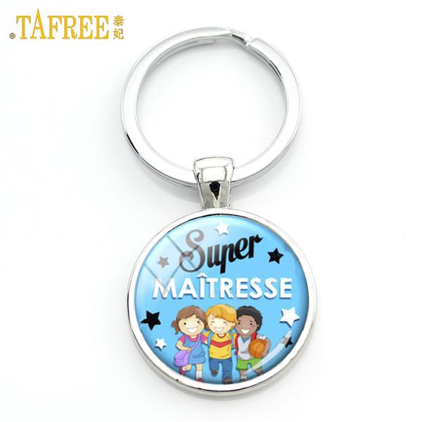 TAFREE Super Maitresse porte-clés meilleure maitresse du monde dôme de verre merci porte-clés porte-clés titulaire bijoux bijoux cadeaux H108