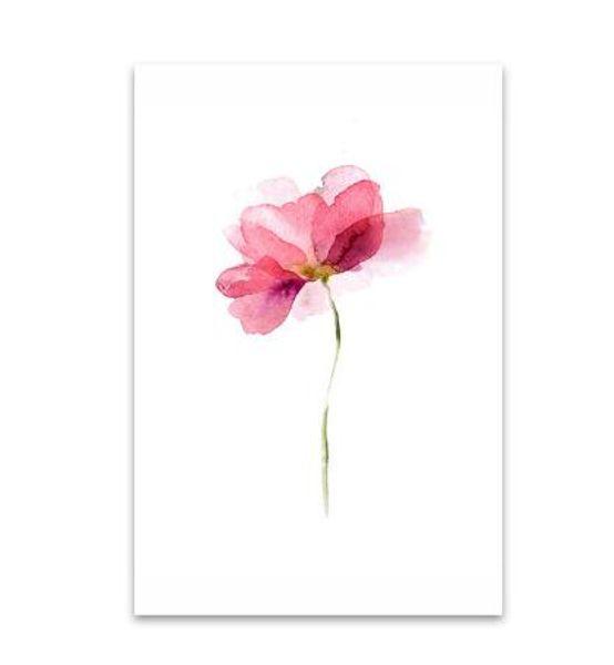 Nordic Post Aquarell Blumen Stillleben Leinwanddrucke für Wohnzimmer Ungerahmt Hauptdekoration Bilder