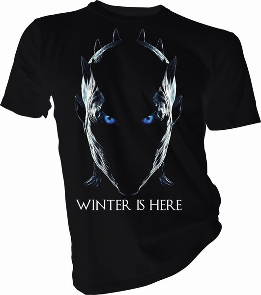 Winter is Here Night King, Game of Thrones Adult & Kids T-Shirt tee Shirts Printing Funny T-Shirt Hipster Summer Top Tee